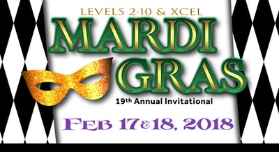 HOLLYWOOD (OCT 28-29, 2017), LVL 3 NOR CAL STATE CHAMPIONSHIP (NOV 18-19, 2017) & MARDI GRAS (FEBRUARY 17-18, 2018) - NBAAGYMNASTICS